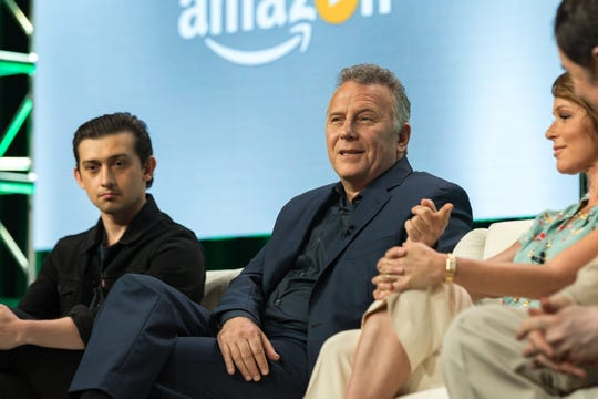 "Craig Roberts, left, and Paul Reiser participate in the ""Red Oaks"" panel during the Amazon Television Critics Association summer press tour."