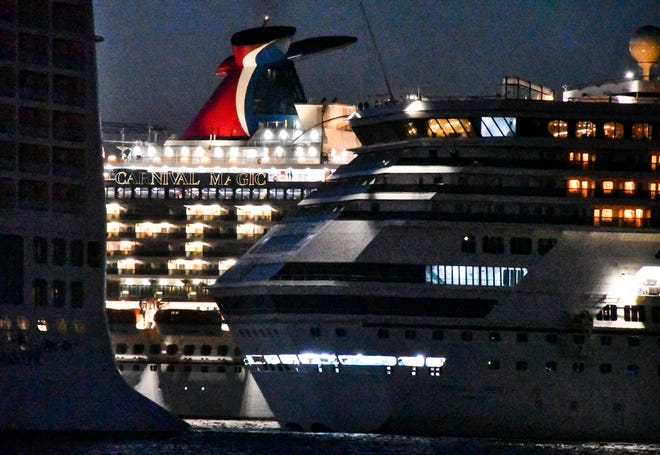 Cruise ships in recent weeks have been rotating into and out of Port Canaveral, with only crews aboard and no passengers.