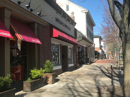 Haddonfield's business district sees few shoppers Saturday as Gov. Phil Murphy issues a stay-at-home order.