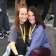 Grace Wesson (left) and Jessica Archer (right) pose together at NKU sponsored retreat.