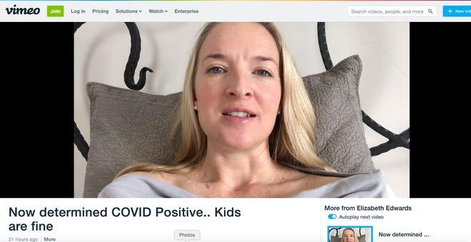 Elizabeth Edwards is presumed positive for COVID-19.