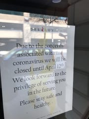 The Des Lux Hotel temporarily closed because of the COVD-19 outbreak.