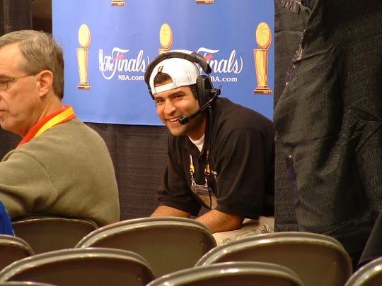 Fox Sports EVS operator Michael Abdella at the 2004 NBA Finals