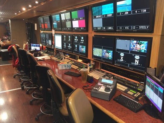 Inside the production truck from an 'NFL on Fox' broadcast
