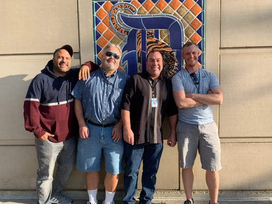 Michael Abdella, far left, with other Fox Sports Detroit home video freelancers at a Detroit Tigers game.