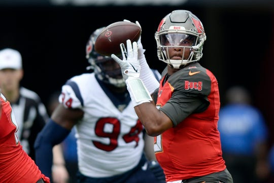 Jameis Winston, above; Cam Newton and Jadeveon Clowney didn't have to wait long at all to find homes in the NFL when they came out of college. The three former No. 1 overall draft picks are finding things moving much more slowly as they search for new homes or contracts this offseason.