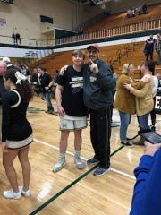 Joah Horrall (left) and his father, Trent, who is battling terminal cancer.
