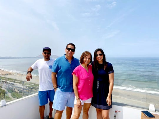 Tyrone Diaz, Byron Diaz, Julia Borja and Giuliana Diaz. The four are currently in Lima, Peru, unable to return to the United States.