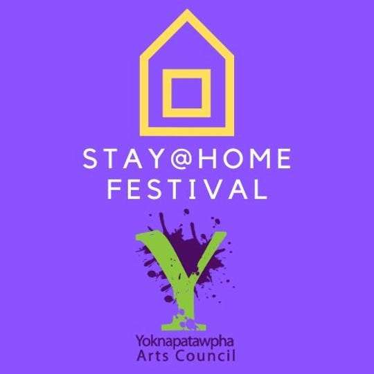 """The Yoknapatawpha Arts Council in Oxford, Mississippi, is promoting a """"Stay at Home"""" Festival due to the coronavirus outbreak."""