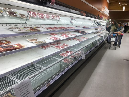 Despite a limit of three meat purchases, the fresh meat cooler selections were limited Friday at the Pick 'n Save store on West Johnson Street in Fond du Lac.