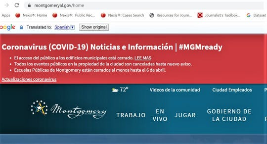 City website translated to Spanish