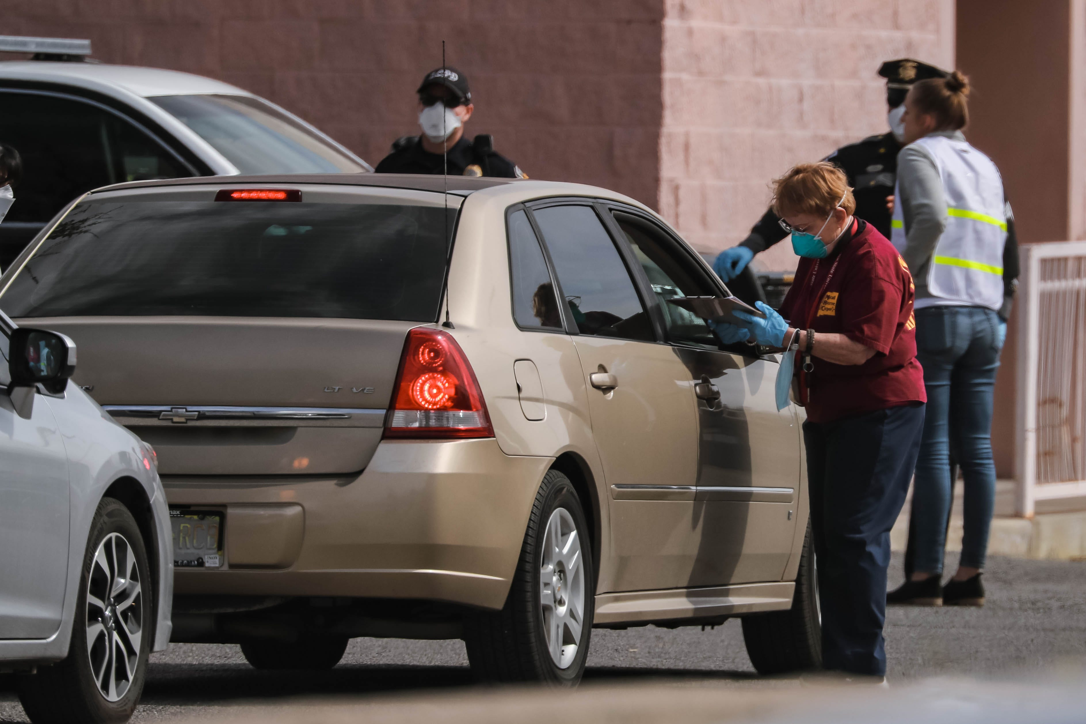 Drive-thru coronavirus testing was set up in Las Cruces at the Doña Ana County Health Services Center for the second of four days announced, on Saturday, March 21, 2020.
