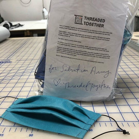 Threaded Together, a nonprofit organization in Flagstaff, donated homemade face masks to the Salvation Army Flagstaff.