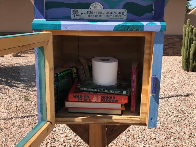The sight of a coveted roll of toilet paper in a Little Free Library lifted a Tempe woman's spirits in the age of coronavirus.