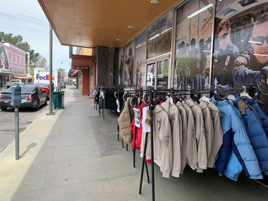 Many retail stores along downtown Nogales' Morley Avenue remain open on March 20, 2020, as travel restrictions at the border are set to go into effect at midnight.