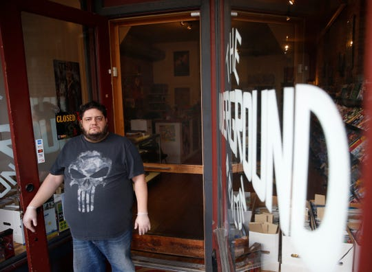 Albert Mas, owner of The Underground Beacon comic book store on March 20, 2020.