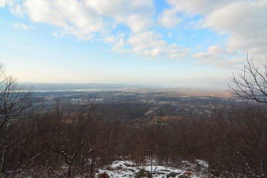 The Catskills are visible in the distance at the end of the Fishkill Ridge trail.