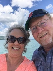 Edward and Carol Lundergan of New Paltz pose for a selfie. Edward, a SUNY New Paltz professor, tested positive for coronavirus on March 19.