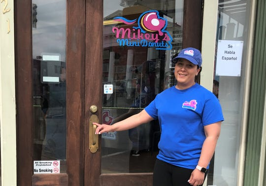 Yomaira Robles, owner of Mikey's Mini Donuts, has been working for months to open the Chambersburg donut take-out spot. But last week, she opened without the planned grand opening festivities because of new gathering restrictions to slow the spread of coronavirus.