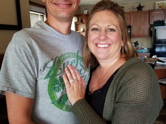 Dylan Merriman (left) and Pamela Bokelman (right) got engaged on March 16, 2019, and the two have been together for about four and a half years.