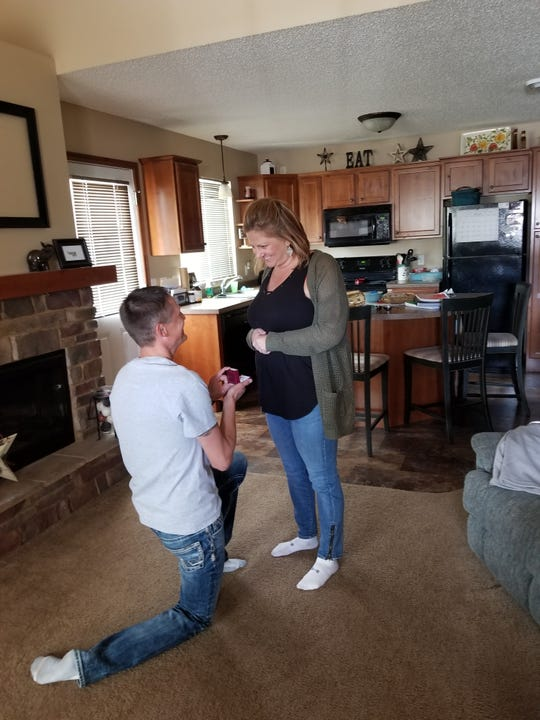 Dylan Merriman went down on one knee at their home in Sauk Rapids to propose to Pamela Bokelman on March 16, 2019. The engaged couple were supposed to get married in Cabo at the end of March, but had to cancel due to the coronavirus outbreak.