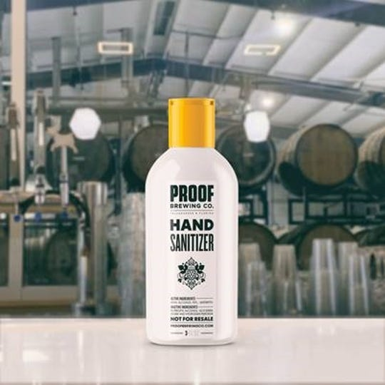 Proof Brewing Co. is making hand sanitizer.