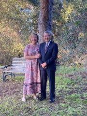Susie and Dan Yee at the Santa Paula home where their youngest child got married last week. The bride and groom had to cancel the large wedding they had been planning for months because of the coronavirus.