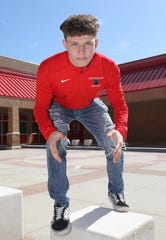 Sean Garofal-Heavner, a junior at North Rockland High School, is the 2020 Rockland Wrestler of the Year.  Here he is pictured at the school in Thiells, March 21, 2020.