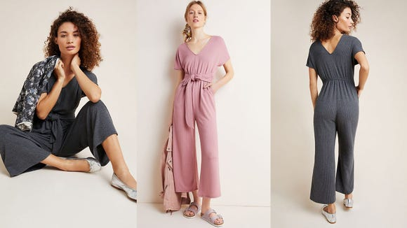 Relax in this wide-leg jumpsuit.