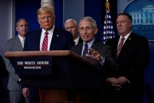 Anthony Fauci, director of the National Institute of Allergy and Infectious Diseases, and President Donald Trump have disagreed on how to treat the coronavirus.
