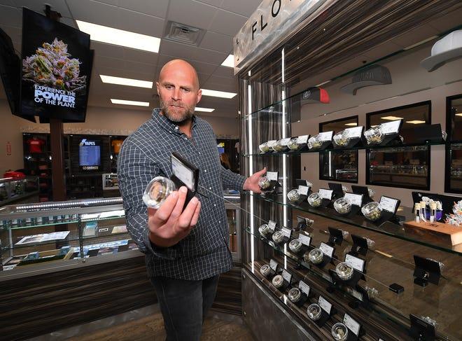 Kyle Turley tours his cannabis dispensary, Shango. He credits cannabis with saving his life.