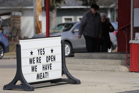 Jacobs Meat Market tries to attract customers in Appleton.