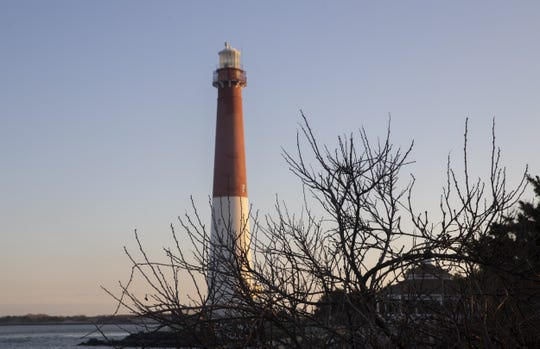 One of the most famous landmarks on the Jersey Shore: Barnegat Lighthouse in Barnegat Light on Long Beach Island.