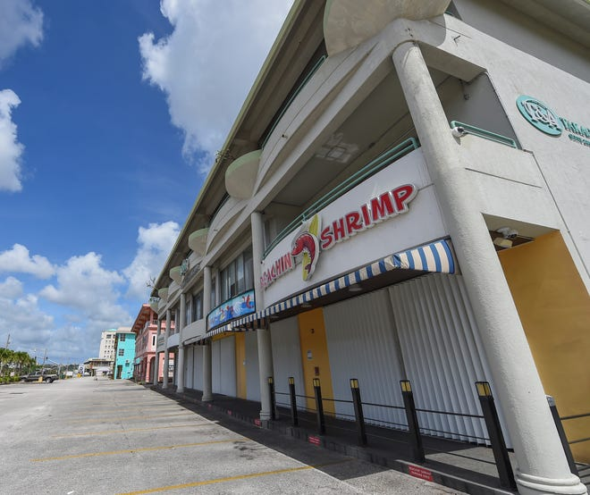 Closed Tumon businesses following Gov. Lou Leon Guerrero's executive order for a shutdown during the COVID-19 pandemic on Guam, March 22, 2020.