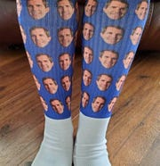 Kristyn Humphrey, of White Plains, Kentucky, put socks with Andy Beshear's photo on her Etsy page. Within 3.5 hours, she sold 207 pair.