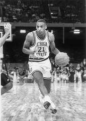 Steve Smith scored 32 points in MSU's Sweet 16 game against Georgia Tech in 1990. But it's the one he missed a the end of regulation that still haunts him.