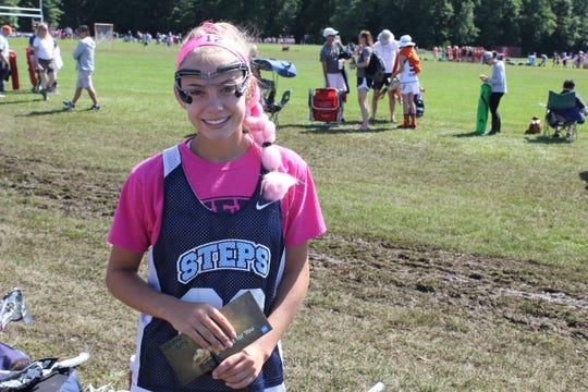 Caroline Medd , a Morristown reisdent who played for STEPS 2023 Blue, is an Lax for the Cure age-group fundraising champion.