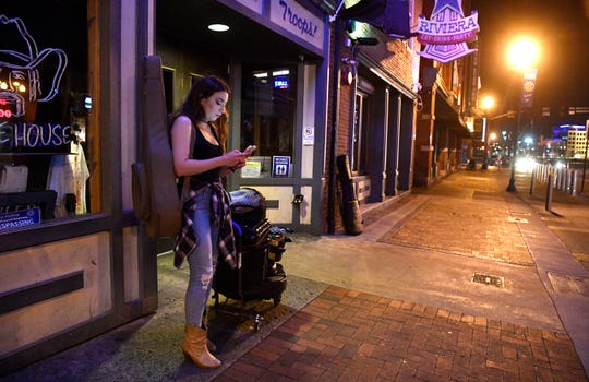 Sasha McVeigh is a working musician who lost her job on Lower Broadway because of the coronavirus outbreak.