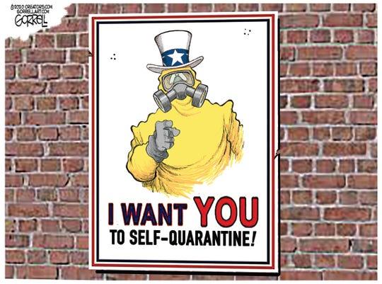 Uncle Sam wants you to self-quarantine.