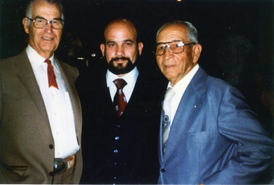 From the left, Frank Bogert, Jose Gonzalez, Mexican counsel general,  and Dr. Carreon in Indio.