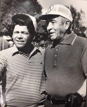 Professional golfer Lee Trevino, left, and Dr. Reynaldo Carreón.