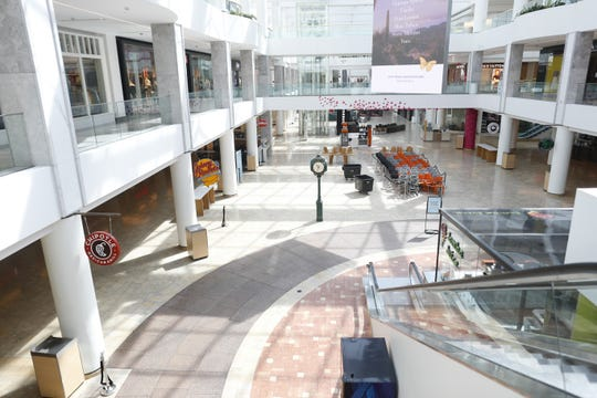Empty inside the Scottsdale Fashion Square Mall in Scottsdale on March 22, 2020.