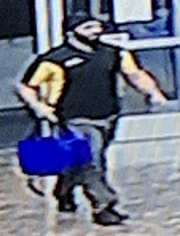 A photo of a suspect who police say stole 29 COVID-19 test kits Friday, March 20, 2020.