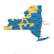 Here's the map of the number of coronavirus cases in New York