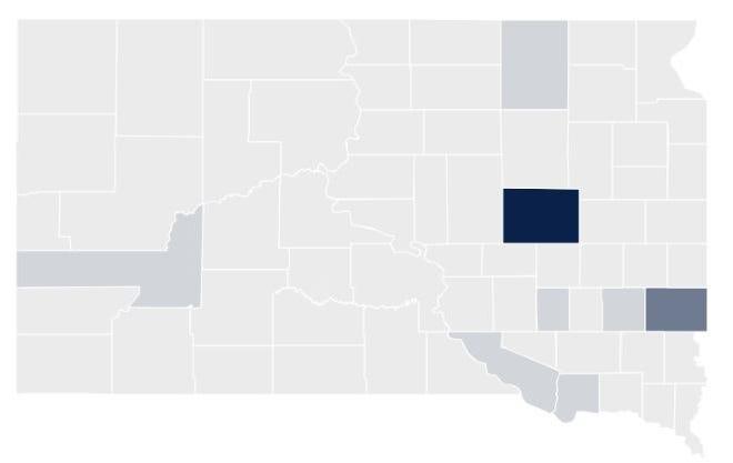 Coronavirus cases as of March 22.