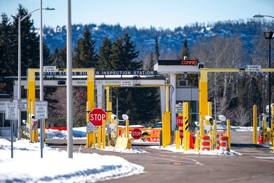 The Grand Portage Point of Entry on the U.S. border with Canada has seen a decrease in traffic over the last week. Very few cars passed through on Friday, March 20, 2020.