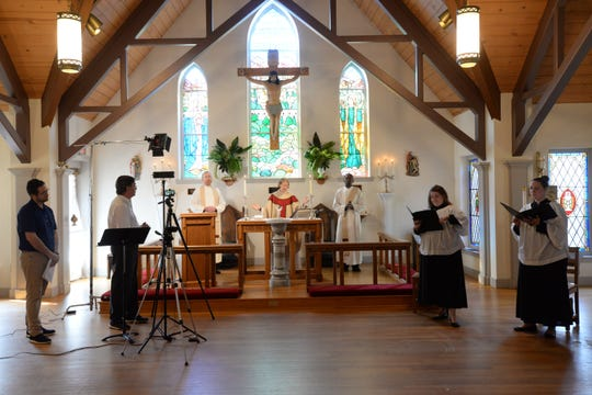 St. John's Episcopal Church offered a 10 a.m. service via Facebook Live from the church's chapel Sunday, March 22, 2020.