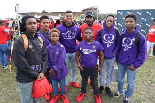 The Omega Lamplighters traveled to Miami to participate in the Peace Walk as guests of the Trayvon Martin family.