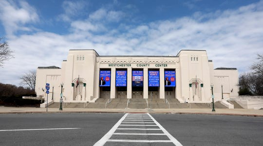 New York State authorities are considering using the Westchester County Center in White Plains, photographed March 22, 2020, to treat the expected rise in patients diagnosed with the Covid-19 virus in the coming weeks and months.