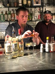 Jamie Dodge (left) and Pasquale Pipi host a virtual cocktail class at Laylow in Asbury Park.
